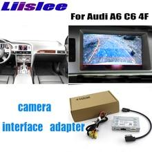 Liandlee كاميرا لموقف السيارات واجهة عكس كاميرا احتياطية أطقم لأودي A6 C6 4F MMI عرض ترقية
