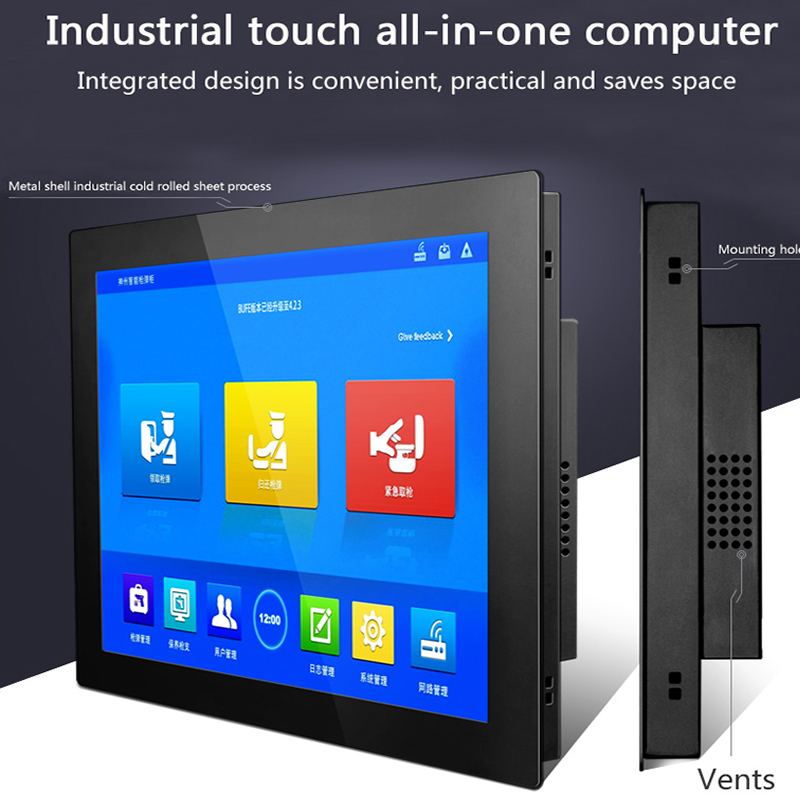 17.3″ 18.5 inch industries computer tablet pc Celeron J1900 All In One PC with touch screen windows 10 pro WiFi RS232 com