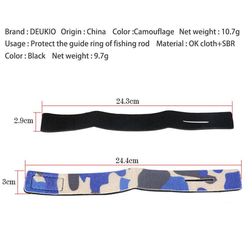 DEUKIO Cinto De Proteção Vara De Pesca Pacote De Pesca Macio Elástico OK Pano SBR Amarrar Cintos Equipamento De Pesca Pesca 24.3 CENTÍMETROS 24.4CM 2 Cores