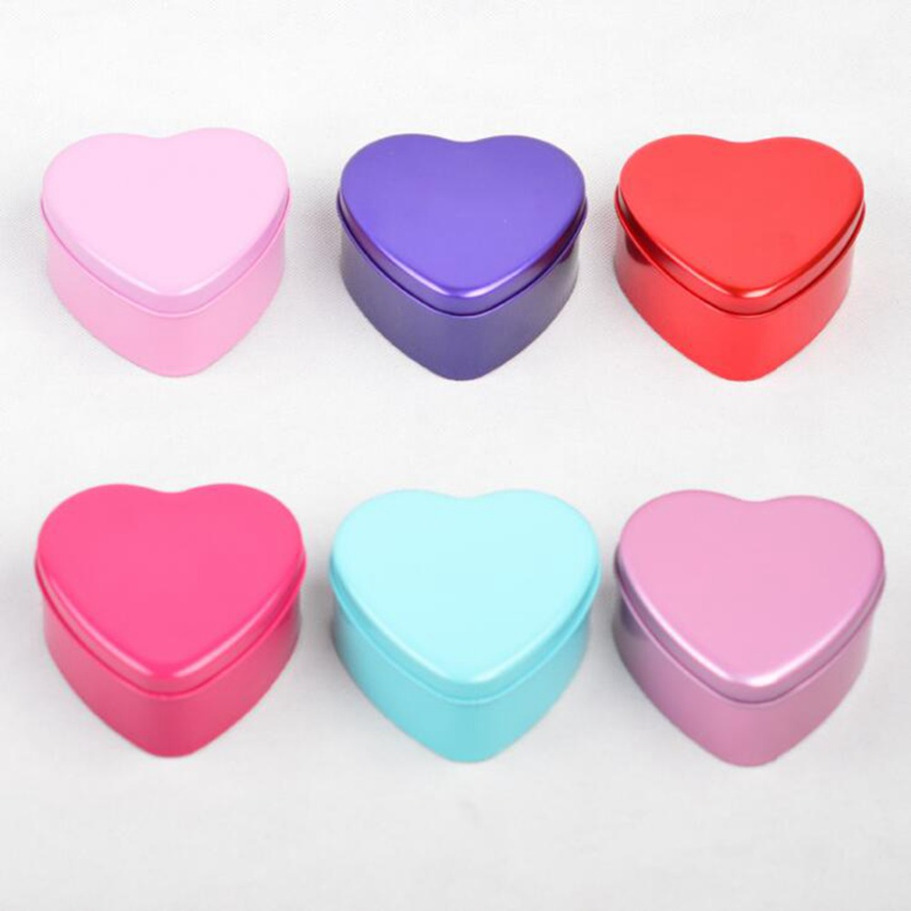 Metal Heart Shaped Candy Box For Gift Wedding Gift Box Wedding Decoration Supplies Candy Tin Packaging Box Bags Party Favors