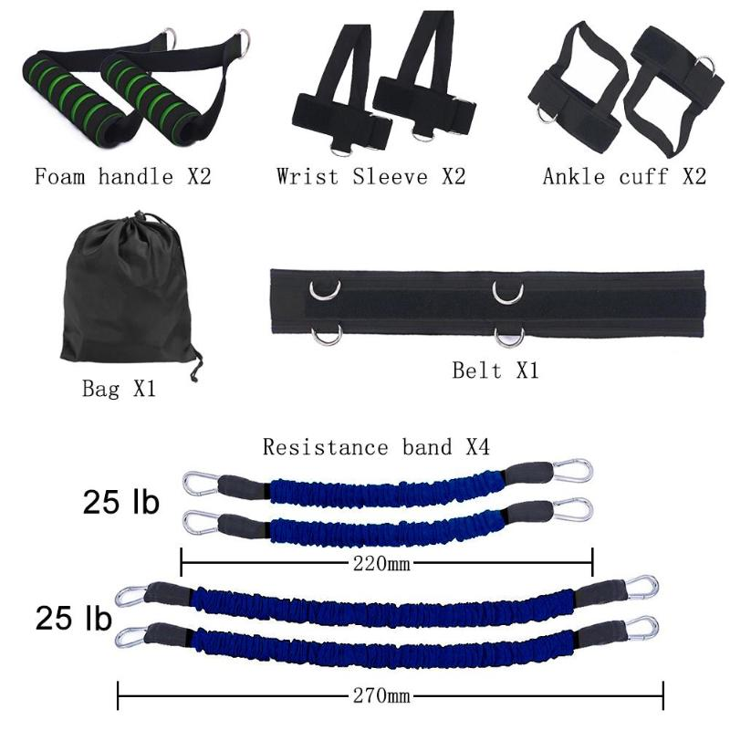 Fitness Resistance Bands Set for Leg and Arm Exercises Boxing Muay Thai Home Gym Bouncing Strength Boxing Training Equipment 5