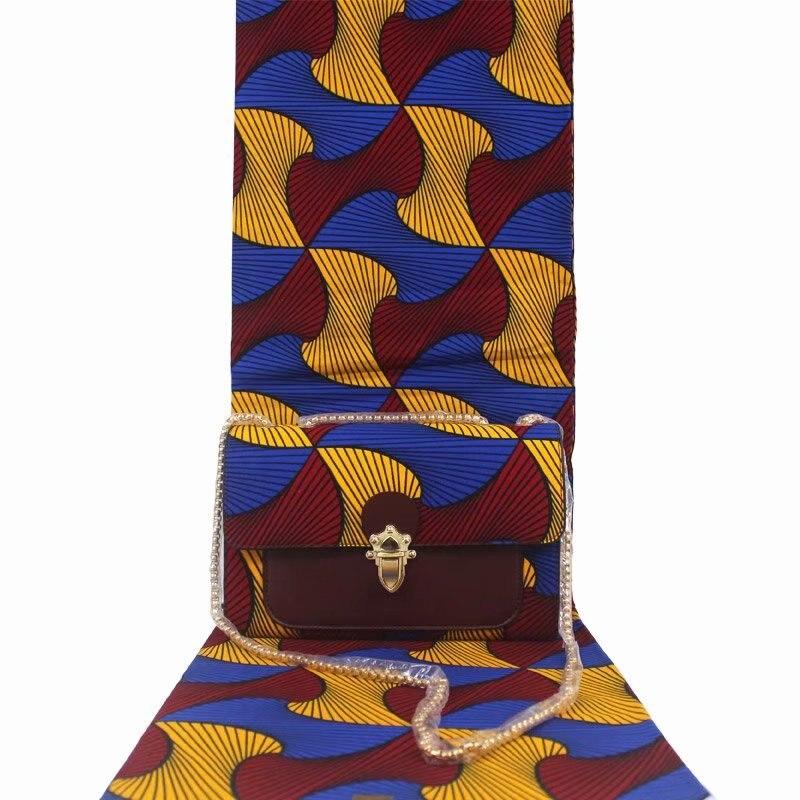 استمرت الأزياء الأفريقية الشمع حقيبة مجموعات 3 قطعة/مجموعة أنقرة الشمع يد مطابقة 6 ساحات الأفريقي الحقيقي لينة الشمع النسيج-في قماش من المنزل والحديقة على  مجموعة 1