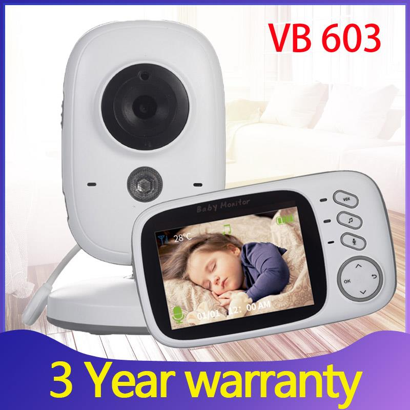 Радионяня VB603, беспроводная камера видеонаблюдения с ЖК-экраном 3,2 дюйма, двусторонняя аудиосвязь, функция ночного видения