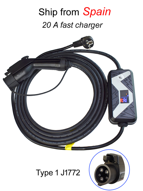 5 Meters SAE J1772 AC Level 2 Charging Coupler Type 1 EV Charger Electrical Car Vehicle Charger Portable Connector