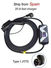 5 meter SAE J1772 AC Level 2 Lade Koppler Typ 1 EV Ladegerät Elektrische Auto Fahrzeug Ladegerät Tragbare Stecker