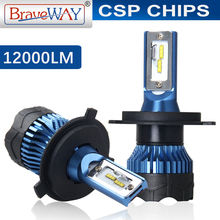 BraveWay 2019 New Items H11 Led Headlight Diode Lamps for Cars H1 H4 H7 LED Bulbs H8 HB3 HB4 Fog Lights All for A Car Automotivo
