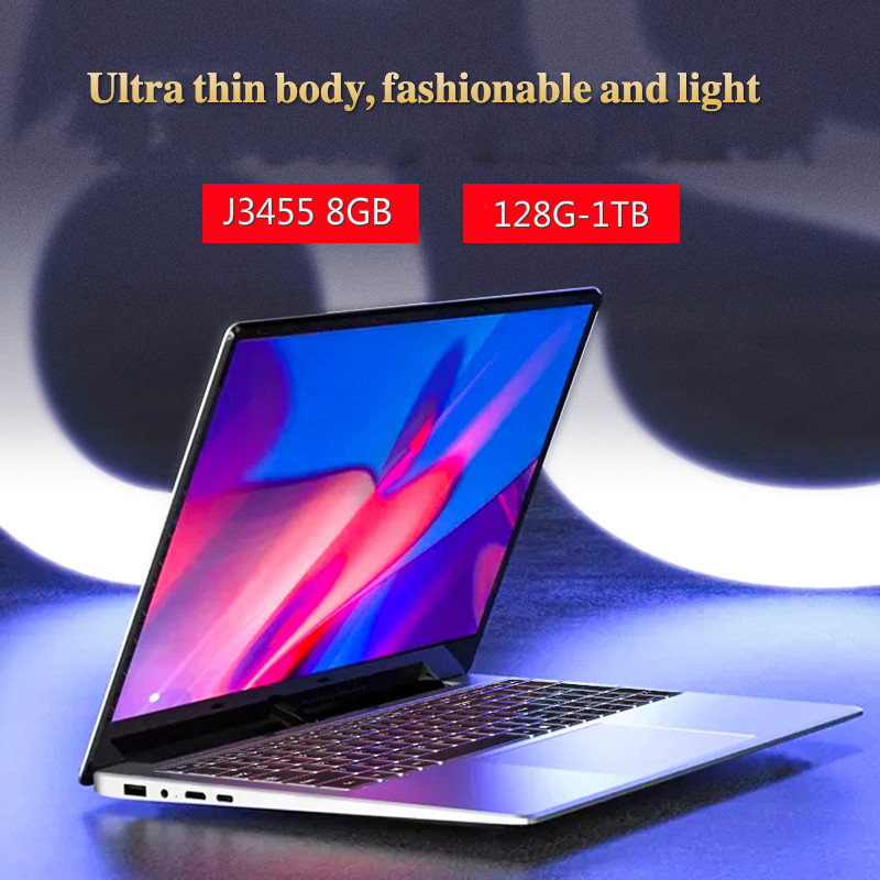 15.6 Inch Gaming With 8G RAM 1TB 512G 256G 128G 64G SSD ROM Laptop Ultrabook Intel Quad Core Windows 10 Notebook Computer-0
