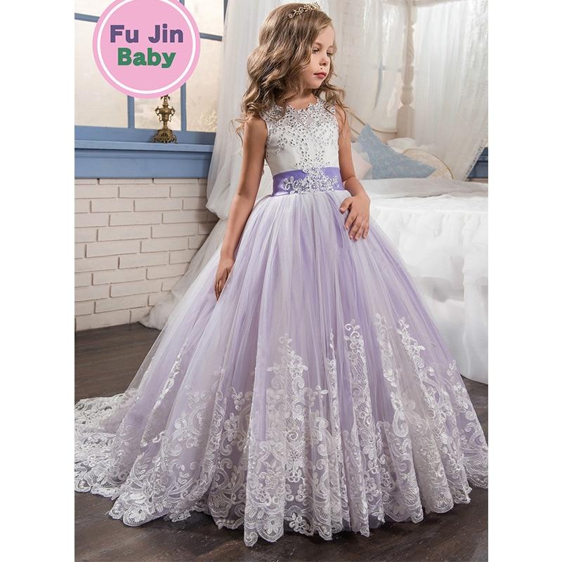 Hot Selling CHILDREN'S Dress 2019 New Style Girls Wedding Dress Mixed Colors Puffy Princess Dress Wedding Flower CHILDREN'S Dres