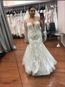 Image 1 - 2020 wdding vestito Beautybridal Customed fatto Abiti Da Sposa Foto Abiti Da Sposa In Pizzo di tulle YE002