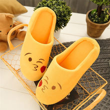 Women Slipper Shoes Cute Non-slip Warm Slipper Indoors Anti-slip Winter House Shoes Outdoor Simple Shoes Casual Flat Slipper 30(China)