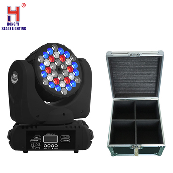 36x3W RGBW 4in1 beam LED moving head licht DMX dj apparatuur professionele podium wash licht met vlucht case 4 stks/partij