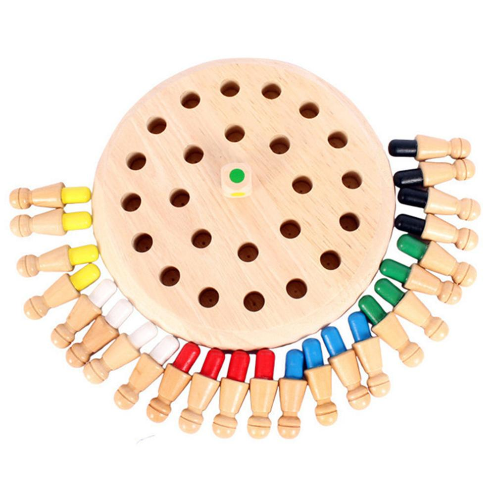 Kid Educational Wooden Memory Match Stick Chess Game Fun Block Board Game E Educational Color Cognitive Ability Toy For Children