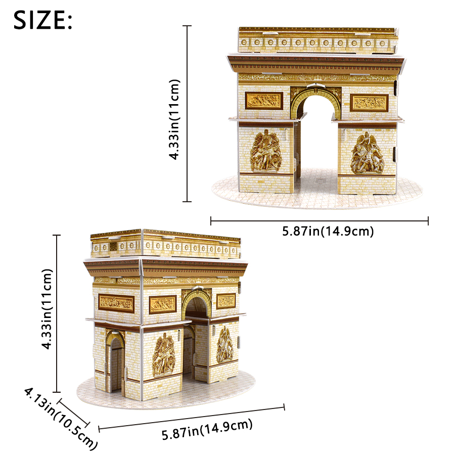 Image 2 - Carboard Building Model 3D Toys Puzzles for Kids DIY World Famous Tower Bridge White House Jigsaw Puzzle Educational Toys Gifts-in Puzzles from Toys & Hobbies