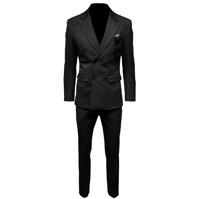 Groom Wedding Dress Suit Double Breasted Formal Office Work Man 3pcs Outfits Party Set Slim Fit Business Meeting Formal Suits