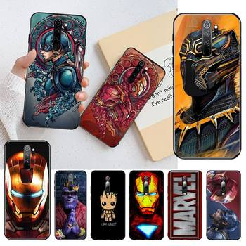 Marvel Iron Man Phone Case for Redmi 9A 8A 7 6 6A Note 9 8 8T Pro Max Redmi 9 K20 K30 Pro image