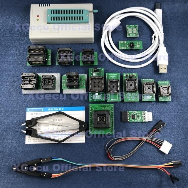 V10.27 XGecu TL866II Plus USB العالمي مبرمج دعم 15000 + IC SPI فلاش NAND EEPROM MCU استبدال TL866A TL866CS + 16 أجزاء
