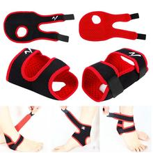 Man Knee Ankle Support Brace Sports Foot Stabilizer Adjustable Ankle Straps Protector Football Ankle Sock Guard Knee Sprain Pad