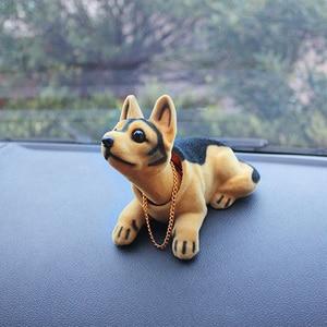 Image 5 - Husky Beagle muñeco de decoración para el Interior del coche, adorno de sobremesa