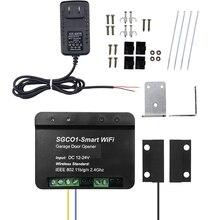Newest Release Garage Door Opener Receiver Wifi Smart Receiver with Sensor Use for Swing Sliding Gate Opener Car US Plug