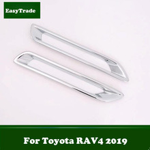ABS Chrome Rear Fog Lights Cover Frame Trim Car Styling Exterior Decoration 2pcs Accessories For Toyota RAV4 Accessories 2019 2pcs set chrome abs car rear tail light lamp cover trim decal frame fit for toyota rav4 rav 4 2009 2012 car styling accessories