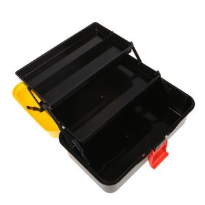 Image 4 - 3 Layer Folding Tool Storage Box Portable Hardware Toolbox Multifunction Car Repair Container Case Thickening folding rods
