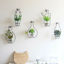 Vase Shelves Flower-Racks Decorative Wall-Hanging Plant Homeart Nordic-Style Bottle Iron-Frame