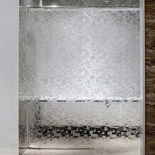 투명 한 두꺼운 샤워 커튼에 대 한에 바 광장 샤워 커튼 3D 욕실 커튼 몰드 방지 방수 욕실 용품