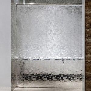Image 1 - EVA kare duş perdesi şeffaf kalınlaşmış duş perdeleri 3D banyo perdesi Moldproof su geçirmez banyo malzemeleri