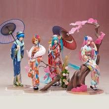 Genuine Hatsune Miku Doll Series Decoration Kimono Hatsune Anime KAITO Touring Luca Action Figure Model Collection Gift xinduplan hatsune miku stronger kimono yukata fancy clothes 1 8 box pvc action figure toys collection model 25cm 1107