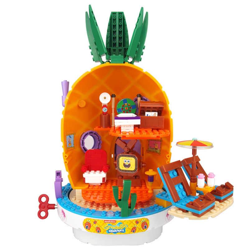 سبونجبوبينجلز موسيقى الأناناس البيت باتريك ستار اللبنات أرقام التعليم لعب الأطفال أطفال عيد ميلاد لتقوم بها بنفسك الهدايا