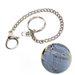 Trouser-Pants Chain-Belts Wallet Silver-Chain Women Hook Rock Punk Metal for Accessories