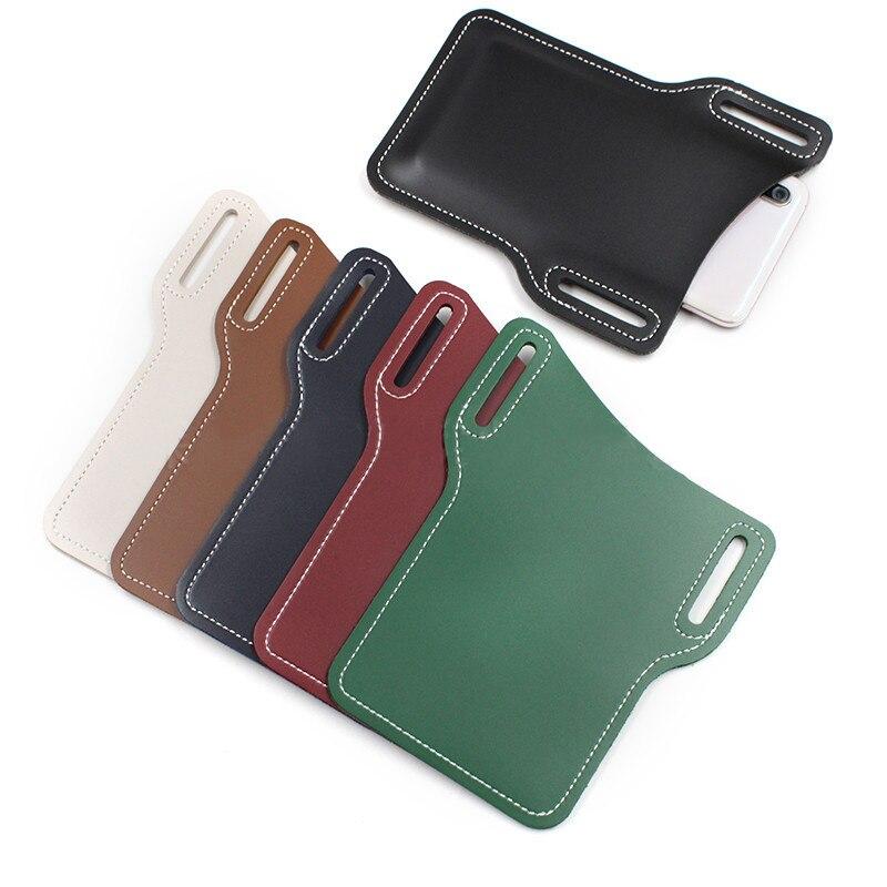 Men Cell-Phone Loop Holster Case Leather Pouch Belt Waist Bag Props Purse Wallet