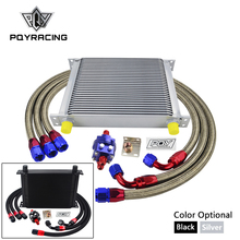 Oil-Cooler-Kit Universal AN10 Hose with Pqy-Sticker Box 30-Rows Braided Steel Steel