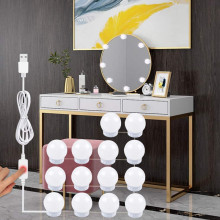 Bulb Makeup-Mirror-Light Dressing-Table Bathroom Touch-Dimming Led Hollywood USB 5V
