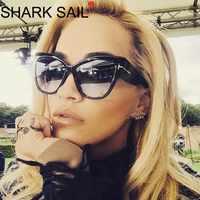 Gafas De Sol Vintage De vela De tiburón Gafas De Sol Retro Gafas De Sol De mujer De marca De diseñador De Gafas De Sol
