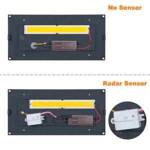 Image 4 - 18W HA CONDOTTO LA Luce Parete Impermeabile IP66 Portico Luce Moderna Lampada Da Parete A LED Del Radar del Sensore di Movimento del Cortile Con Giardino Luce Esterna ZBW0001