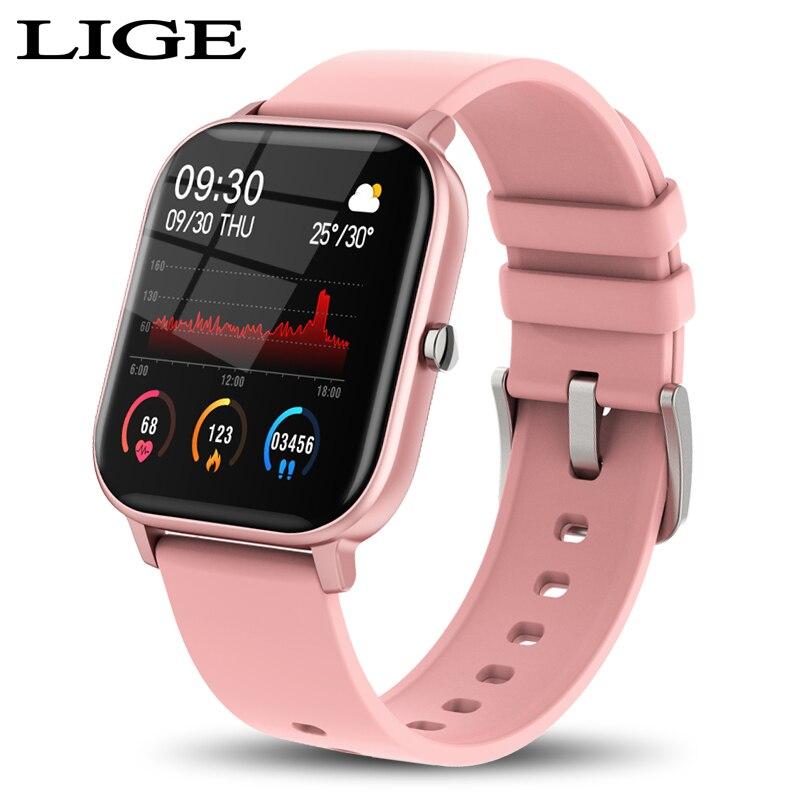 LIGE New P8 1 4 inch Full Touch Women Digital Watches Waterproof Sports For xiaomi iPhone Multifunctional  Electronic Watch Men