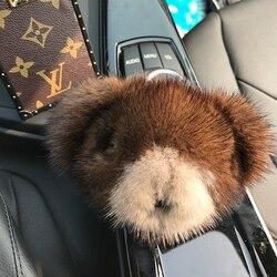 New style mink fur bear doll pendant car decoration cute bag pendant lovely key chain