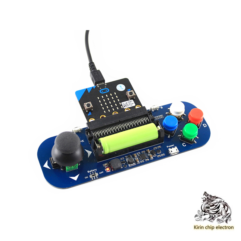 1PCS/LOT micro:bit expansion board game handle with rocker/key/battery/buzzer to play music