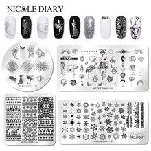 Николь дневник ногтей штамповочная пластина прямоугольная круглая квадратная животная Мировая Серия пластина с изображениями для нейл арта прямоугольный трафарет для ногтей