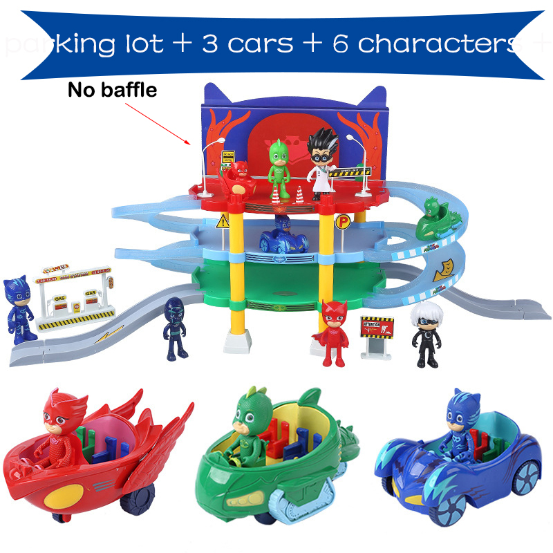 PJ Masks Heroes Pj Mask Juguete Kids Connor Greg Amaya Owl Girls Hero ABS Child Parking Set Toys For Children Girls Boys S01