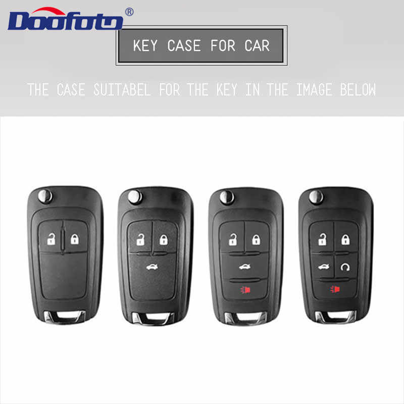 Doofoto llave de coche cubierta protectora para Chevrolet Cruze Aveo TRAX Opel Astra Corsa Meriva Zafira Antara ASTRA Mokka Insignia