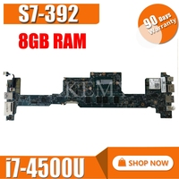 NBMBK11007 48.4LZ02.011 Main Board For Acer aspire S7 392 Laptop Motherboard MB 12302 1 I7 4500U CPU 8GB Ram