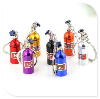 car Turbo Nitrous Oxide Bottle Keychain Keyring Pill Box for BMW 335is Scooter Gran 760Li 320d 135i E60 E36 F30 F30 image
