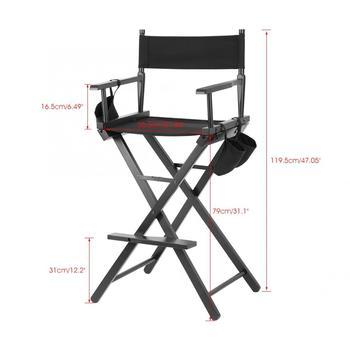 Professional Makeup Artist Directors Chair Wood Lightweight Black Foldable Chair 5