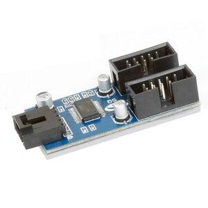 Image 3 - XT XINTE 9pin USB Đầu Nam 1 Đến 2/4 Nữ Dây Nối Dài Thẻ Để Bàn 9 Pin Hub Chia Cổng USB 2.0 9 Pin Kết Nối Cổng Số Nhân