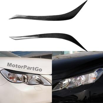 Real Crabon Fiber Head light Eyelid Eyebrow Cover Trim 1pair for  Toyota REIZ 2010-2012 T230 1