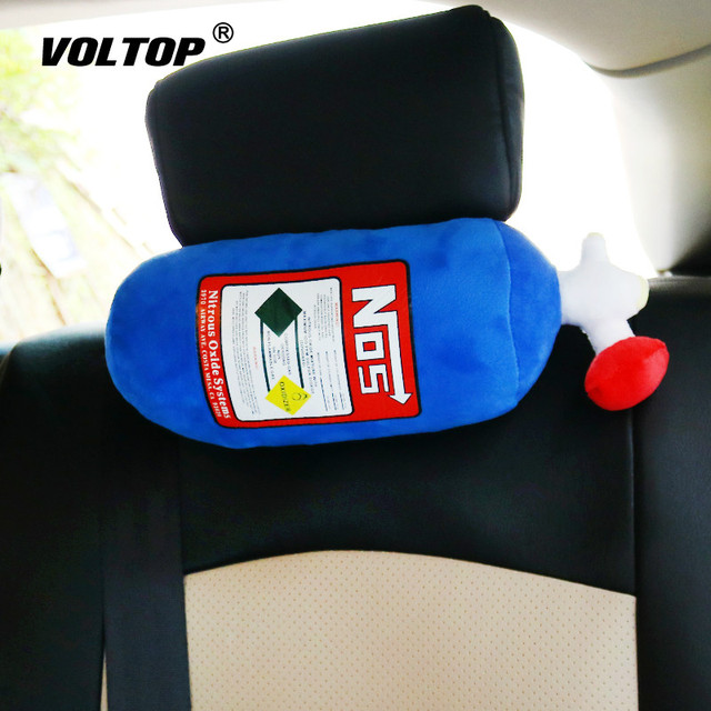 NOS Car Seat Headrest Neck Pillow Cushion Car Accessories for Girls Memory Foam Pillow Cartoon Simulation Fire Extinguisher