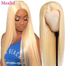 613 медово-светлый цвет Remy перуанские прямые кружевные передние человеческие волосы парик 13x1 T часть фронтальные парики для черных женщин 8 - ...