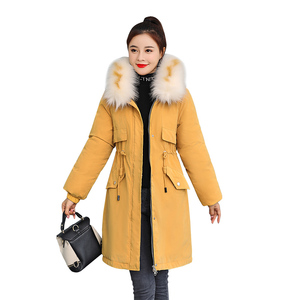 Image 5 -  30 Degrees New 2020 Women Winter Jacket Hooded Fur Collar Female Winter Coat Long Parkas with Fur Lining Plus Size Fur Parka